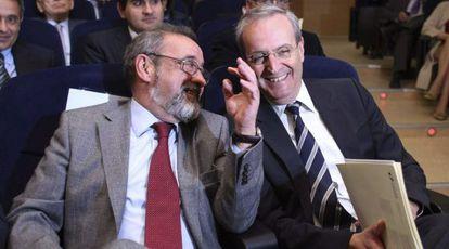 Los presidentes de Cierval y Coepa, José Vicente González y Moisés Jiménez.