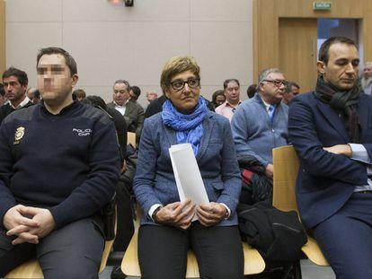 La exalcaldesa de La Muela María Victoria Pinilla en el juicio que se sigue contra ella por corrupción urbanística, en enero 2016.