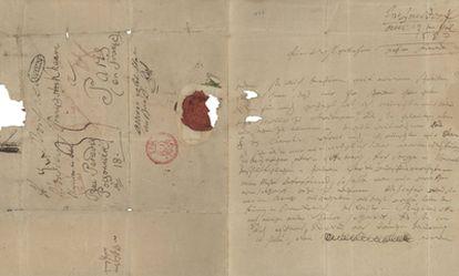 La carta escrita en julio de 1823 por Ludwig van Beethoven.