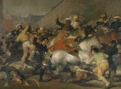 <i>El dos de mayo de 1808. La carga de los mamelucos</i> (1814), de Francisco de Goya y Lucientes.