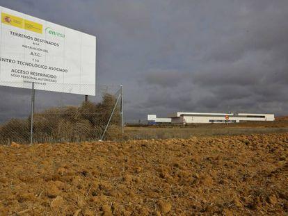 Terrenos de Villar de Cañas (Cuenca) donde está previsto el almacén nuclear.