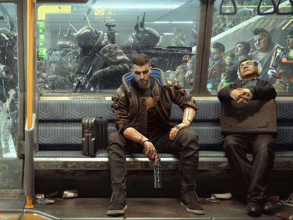 Imagen promocional de 'Cyberpunk 2077'.