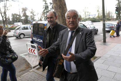 El presidente de Ausbanc, Luis Pineda, el pasado lunes, en Madrid.