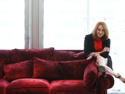 La directora Gracia Querejeta, ayer al mediodía en un hotel madrileño.