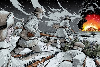 Una página de 'Hasta Nóvgorod', de Víctor Barba.