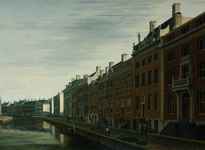 <i>Recodo del Herengracht,</i> de Gerrit Adriaensz Berckheyde, que JP Morgan reclama al museo holandés.