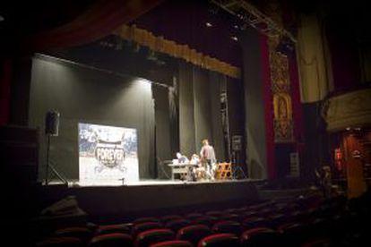 Escenario del Teatro Nuevo Apolo.