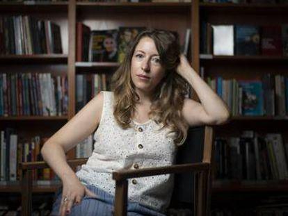 Pilar Palomero, en la librería Ocho y Medio de Madrid.