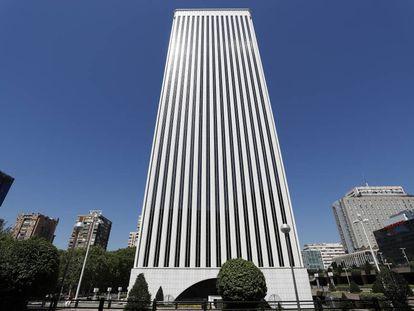Torre Picasso en Madrid, uno de los inmuebles gestionados por Pontegadea.