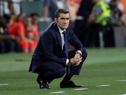 Valverde, durante la final de Copa,