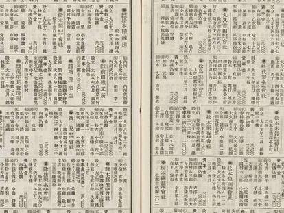 Registros de bancos japoneses de 1912 a 1980 (capital, reserva, préstamos, acciones, activos, inventario, efectivo, reservas, dividendos, etc.).