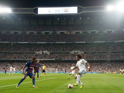 Marcelo encara a Semedo en el partido de vuelta de la Supercopa de España.