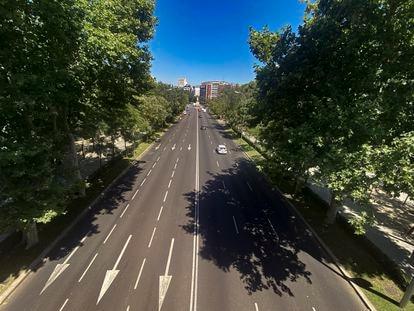 El Paseo de la Castellana, en Madrid.
