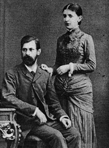 Sigmund Freud y su esposa, Martha Bernays, fotografiados en su casa de Hamburgo (Alemania) en 1885.