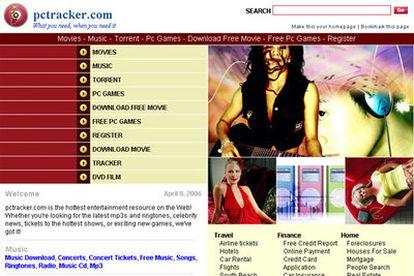 Página web pctracker.com, uno de los sitios afectados por la operación policial.
