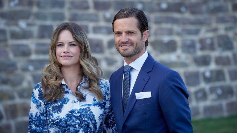 Carlos Felipe y Sofía de Suecia, en las celebraciones del cumpleaños de Victoria de Suecia, en julio de 2020.