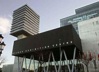 Entrada principal del Bilbao Exhibition Centre, la Feria Internacional de Muestras ubicada en Barakaldo.