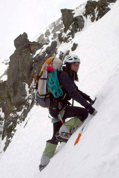 Gerlinde Kaltenbrunner, en el K2.
