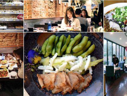 Imágenes de Sichuan, El Bund y Juventud, algunos de los restaurantes de comida china más frecuentados por esta comunidad en Madrid.