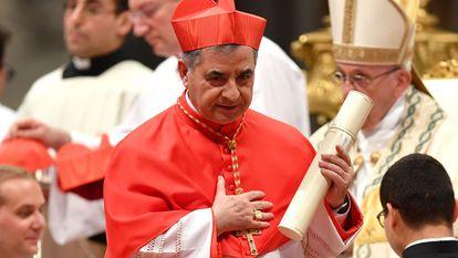 El cardenal Giovanni Angelo Becciu, en una foto de junio de 2018.