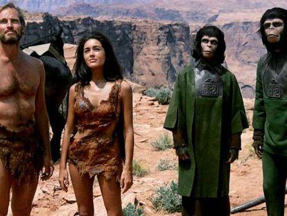 Fotograma de 'El planeta de los simios', película de 1968. En vídeo, una secuencia de la película.