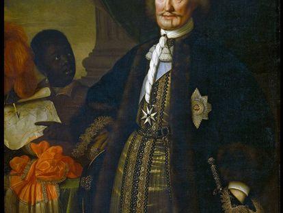 Retrato de Johan Maurits, dueño original de la sala holandesa Mauritshuis.