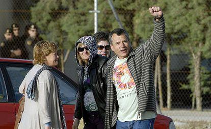 'Gatza', el preso más antiguo de ETA, a su salida de la prisión de Jaén.