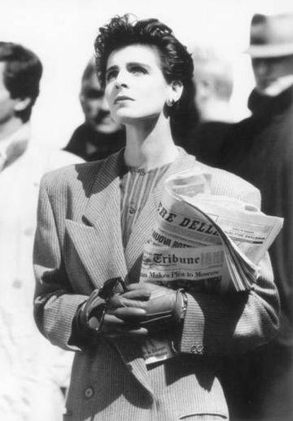 La modelo Antonia Dell'Ate en una campaña de Giorgio Armani de 1984.