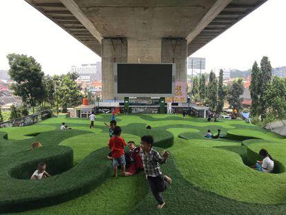 Taman Park, en Bandung (Indonesia).