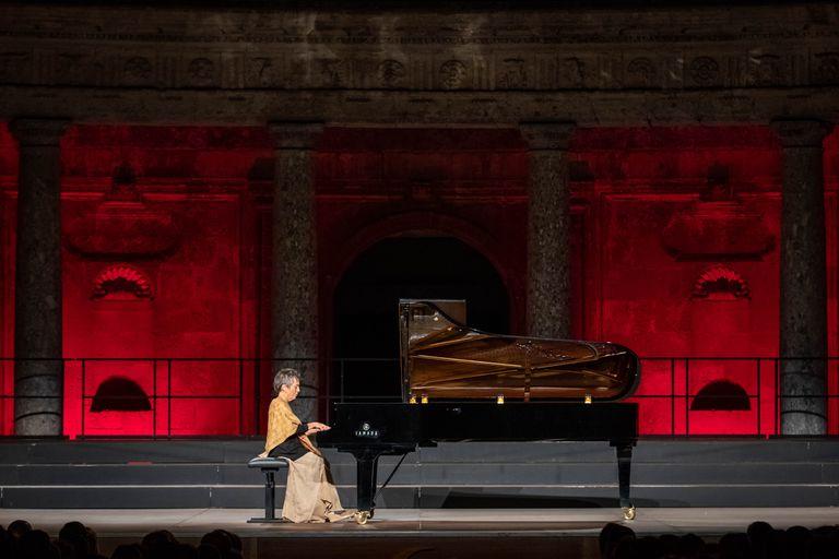 Concierto De Maria Joao Pires en el Palacio de Carlos V, durante el 68 Festival Internacional de Musica y Danza de Granada.