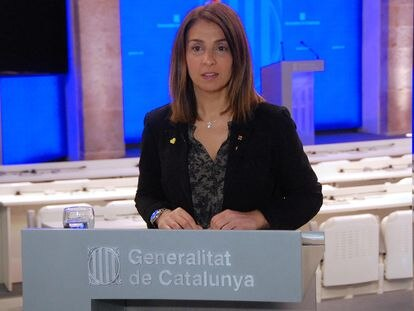 La consejera de Presidencia Meritxell Budó en la Generalitat.