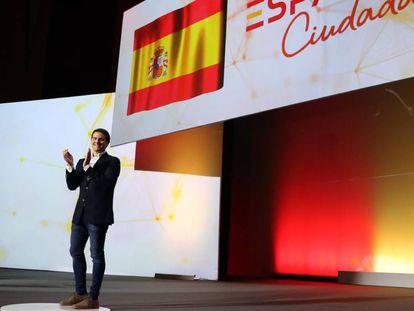 Albert Rivera durante la presentación de la plataforma 'España ciudadana', el domingo en Madrid. En vídeo: Entrevista al líder de Ciudadanos en la Cadena SER.