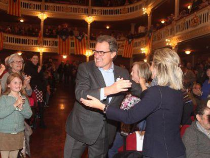 Artur Mas, ayer, en el acto celebrado en Reus este viernes