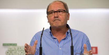 El secretario de Organización, Juan Cornejo, este lunes.