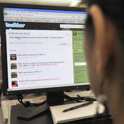 Imagen de una página <i>web</i> de Twitter.