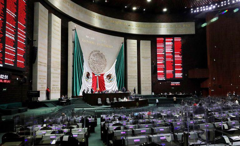El pleno de la cámara de los diputados de México.
