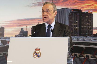 Florentino Pérez, presidente del Real Madrid y de la recién creada Superliga europea.
