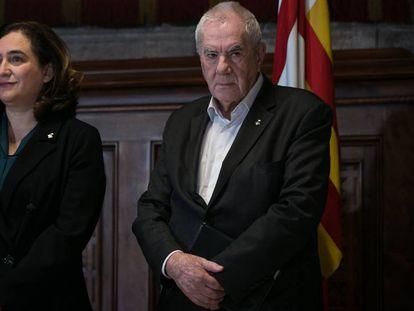 La alcadesa Ada Colau y Ernest Maragall (ERC).