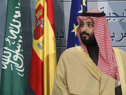 El príncipe Mohamed bin Salman, en Madrid, el pasado abril.