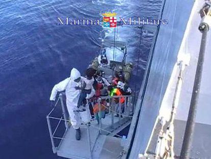 Rescate de la Marina italiana, el pasado 15 de agosto.