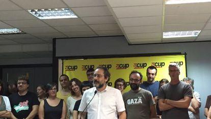 Baños en la presentación de la candidatura al 27-S de la CUP.