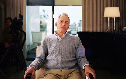 Robert Durst, durante la grabación de 'El gafe'.