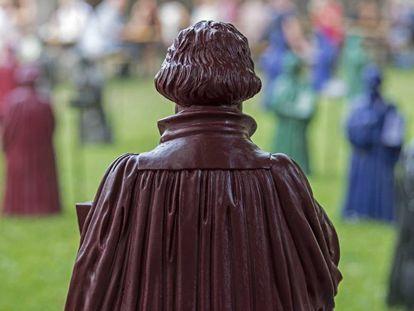 Una estatua de Lutero, en Alemania.