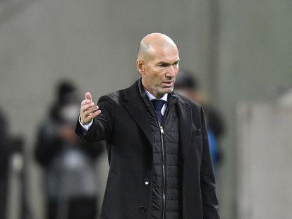 Zinedine Zidane, el miércoles en Mönchengladbach.