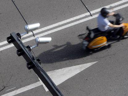 Cámaras para la vigilancia del tráfico en Madrid.