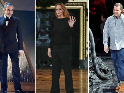 De izquierda a derecha: Los diseñadores John Galliano, Stella McCartney y Alexander McQueen.