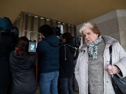 Carmen Avendaño, el martes en los juzgados de Vilagarcía.