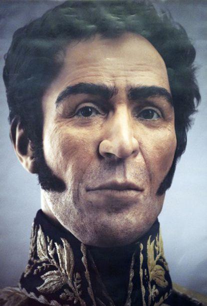 La imagen del rostro de Bolívar.