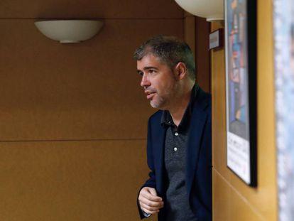 Unai Sordo, durante la reunión del Consejo Confederal de sindicato, hoy en Madrid.