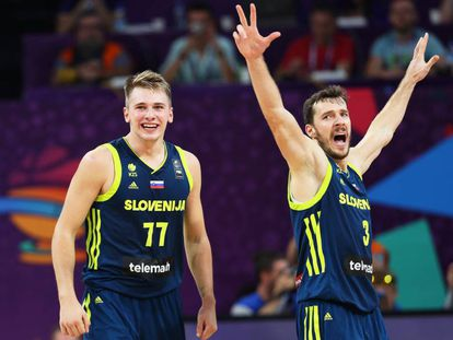 Doncic y Dragic en la semifinal.